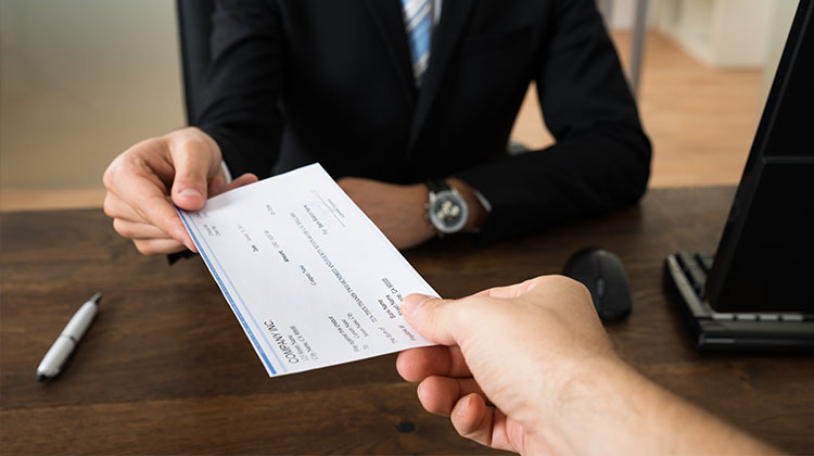 Person Receiving Check